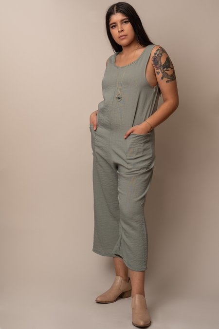 Altar Houseline Pocket Jumpsuit - Sage Green