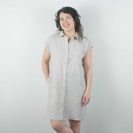 Jennifer Glasgow Arroyo Linen Dress - Sand