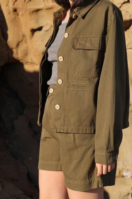 Girls of Dust HBT Worker Jacket - Khaki