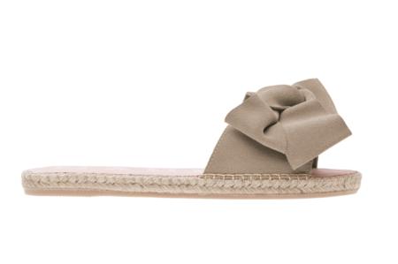 de7068cfeff Manebi Hampton Flat Sandal with Bow - Vintage Taupe ...