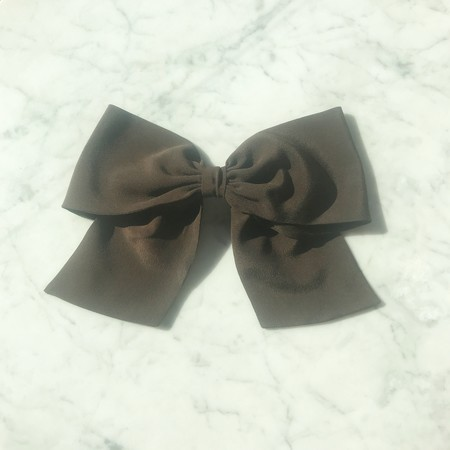 Bianca and Red Large Bow - Black