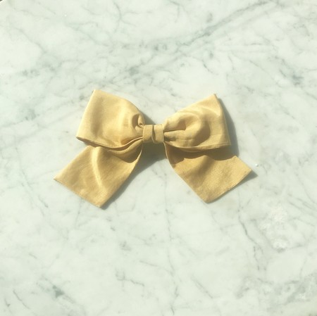 Bianca and Red Bow - Gold