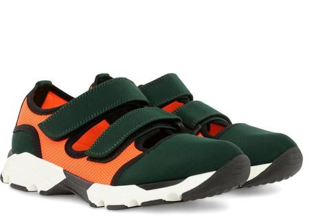 Marni Mary Jane SNEAKER - Pine/Orange