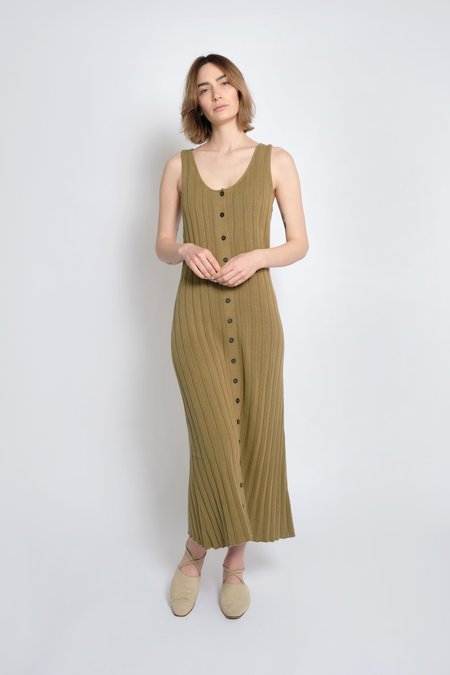 Micaela Greg Accordion Pleated Dress - Juniper