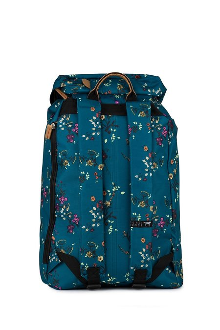 The Pack Society Premium Backpack - Blue Flower Allover