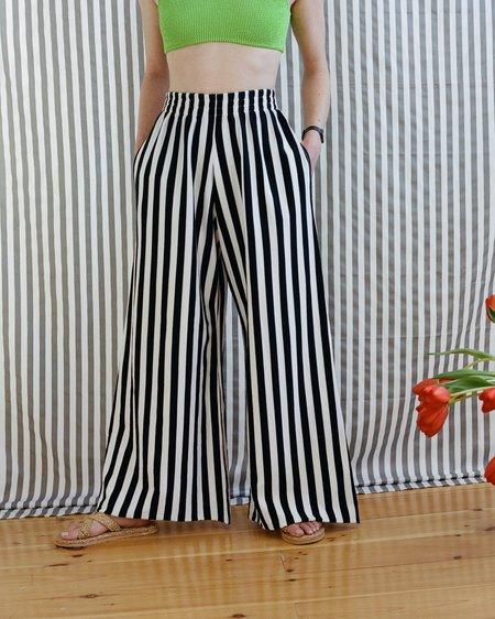 OffSeasonNYC Omiyage Lounge Pant - Black/White Jersey