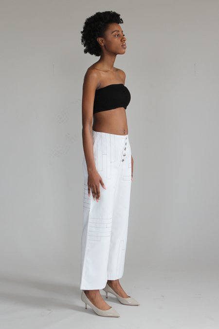 AndAgain City Pants - White