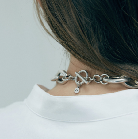 Jenny Bird Sloane Collar Necklace - Silver