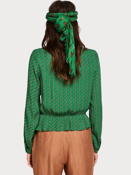 Maison Scotch Tie-Front Blouse - Green