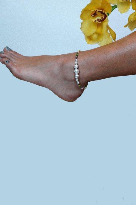 Luiny Simple Pearls Multicolor Ankle Bracelet