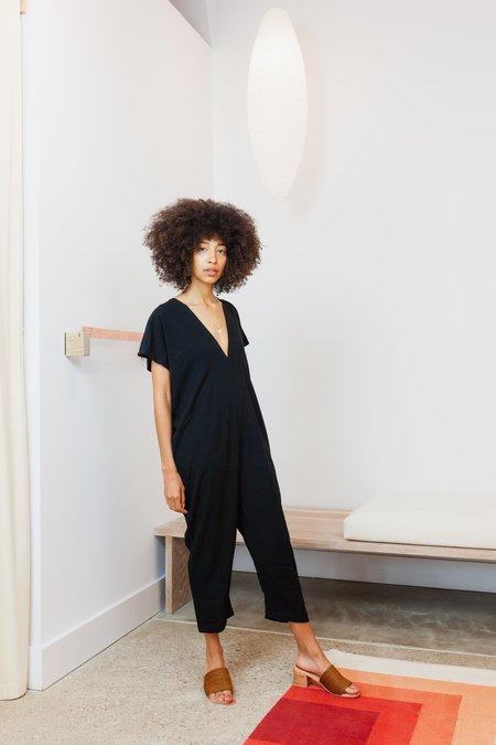 Miranda Bennett Rayon Petite Everyday Jumpsuit - Black