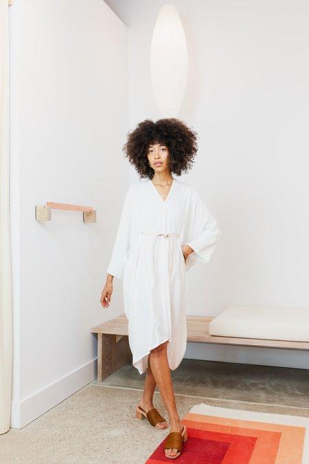 Miranda Bennett Rayon Petite O'Keeffe Dress - White