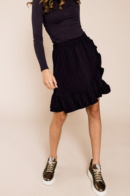 Ganni Heavy Crepe Mini Skirt - Total Eclipse
