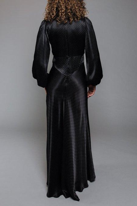 Ganni Heavy Satin Dress - Black