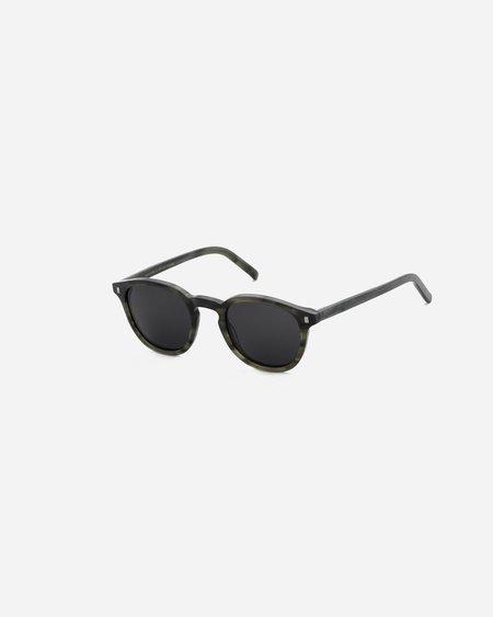 Unisex Monokel Nelson Sunglasses - Green Demi