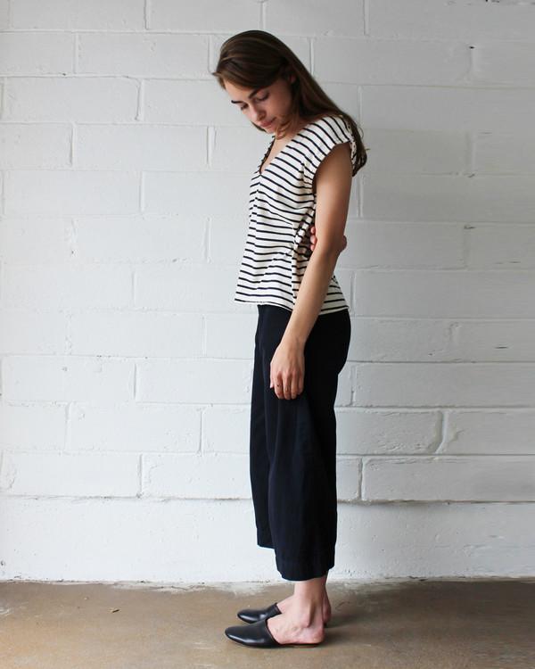 Esby Evie Oversized Top - Navy Stripe
