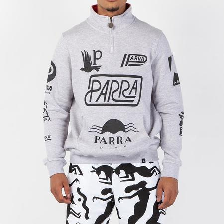 a129a82abd0 ... by Parra Sponsored Quarter Zip Sweater - Ash Grey