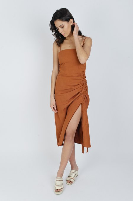 Third Form Picasso Drawn Up Dress - Terracotta