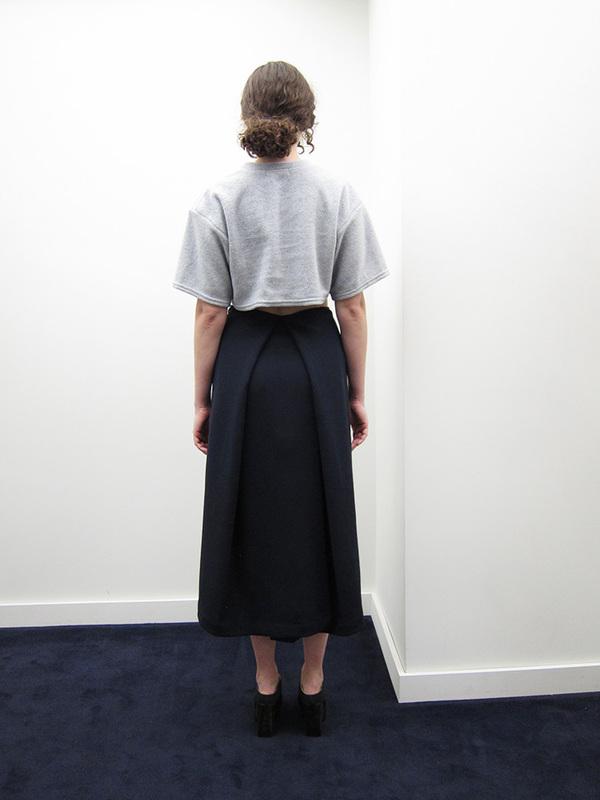 KAAREM Piece of Ring Pleated Midi Skirt
