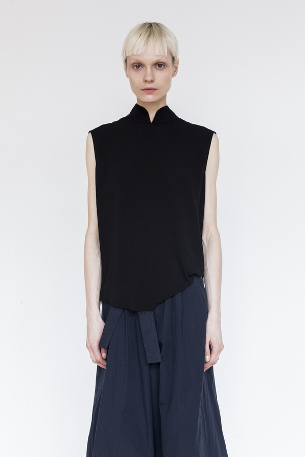 Assembly Crepe Sleeveless Top