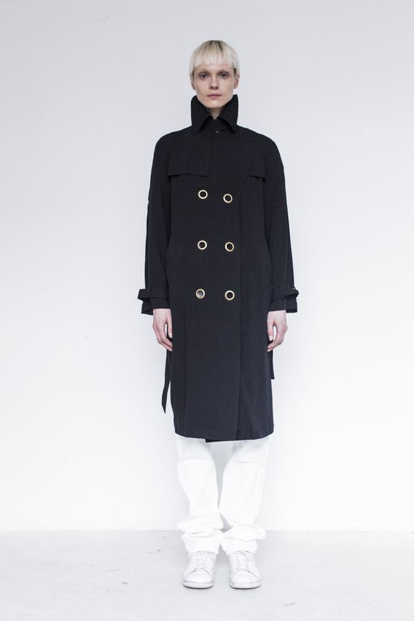 Assembly Crepe Trench Coat