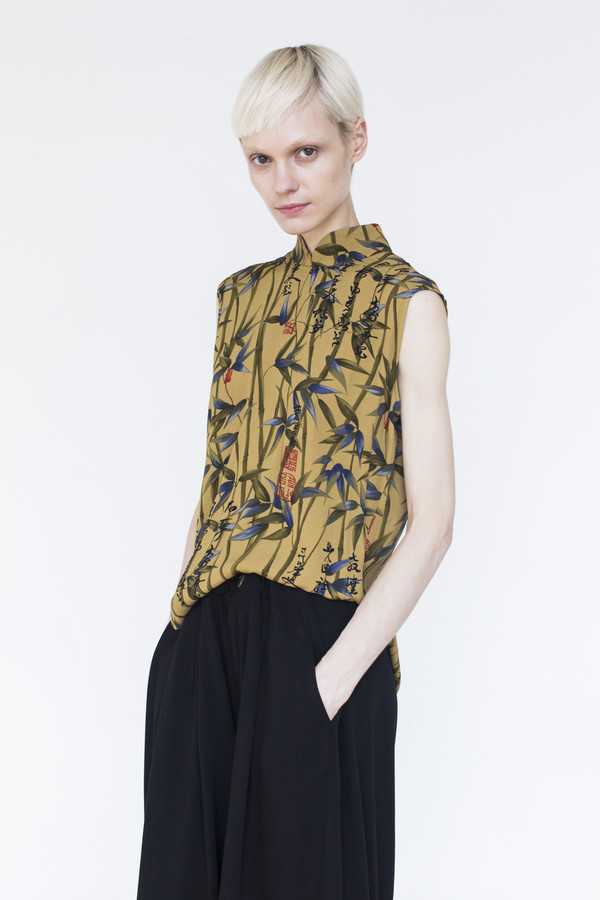 Assembly Printed Sleeveless Top