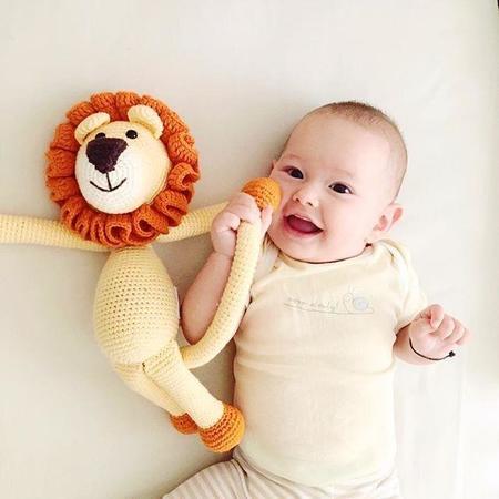 bebemoss Leo the Lion Crochet Stuffed Animal - YELLOW
