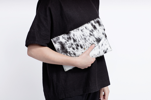 Primecut GREY ENVELOPE CLUTCH