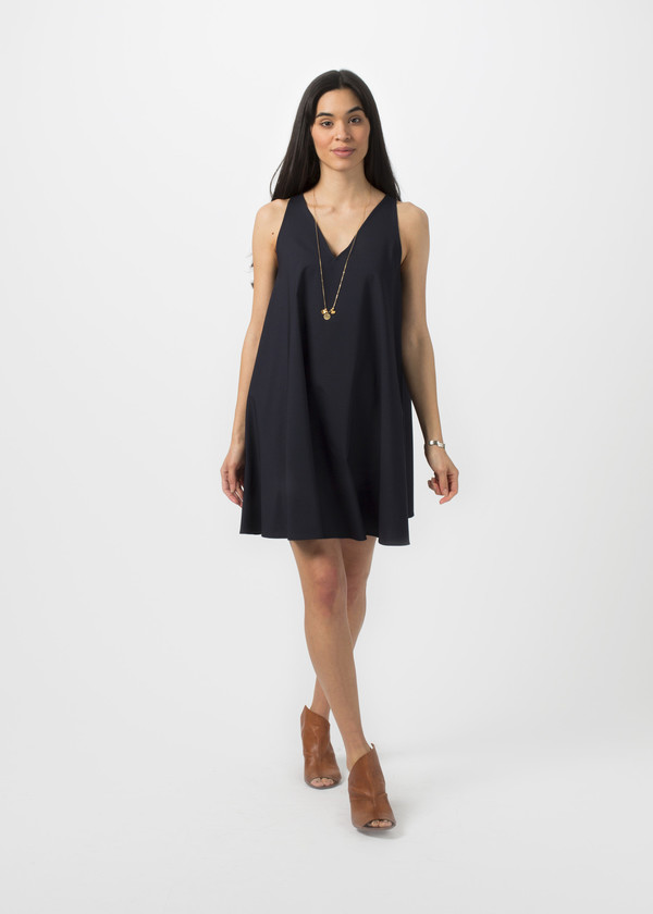 Harvey Faircloth Tropical Stretch Wool Dress