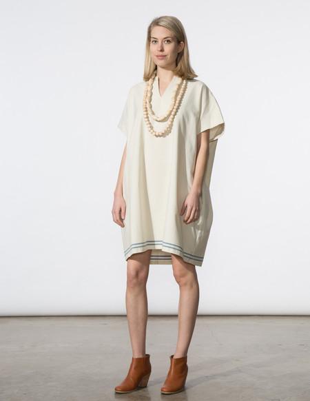 SBJ Austin Mary Dress in Cream/Blue Stripe