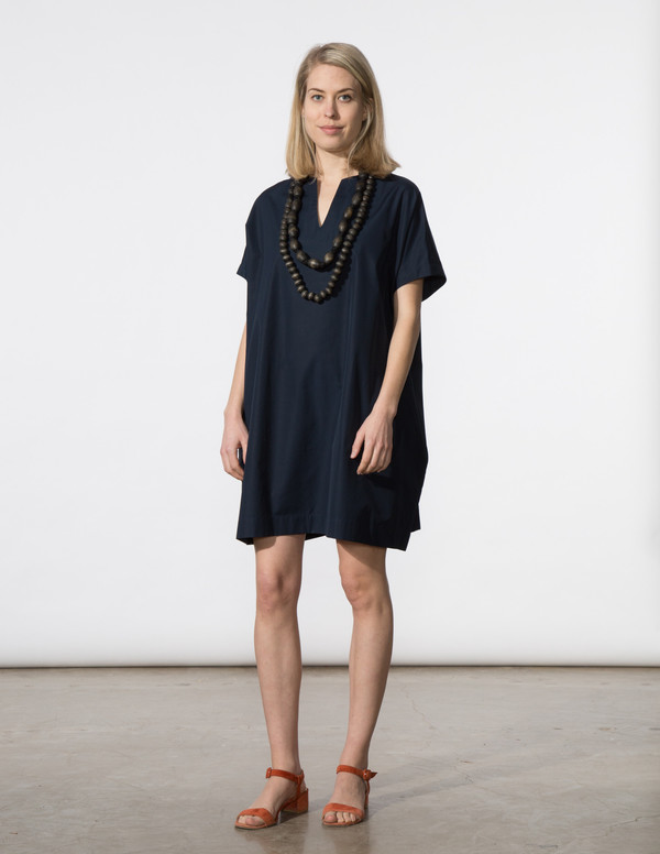 SBJ Austin Mary Dress in Navy