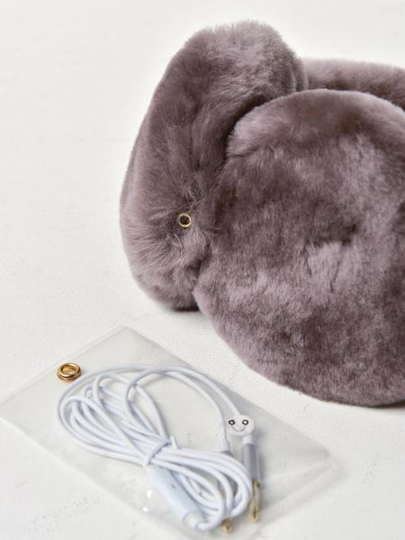 UGG SHEEPSKIN HEADBAND EARMUFF - STORMY GREY