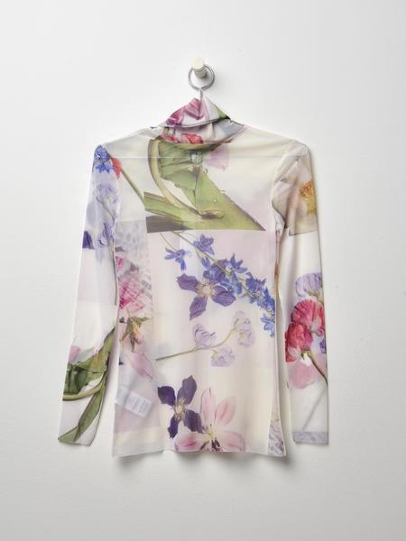 Ganni Tilden Mesh Top - floral print