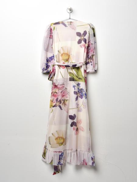 Ganni Tilden Mesh Dress - Bright White