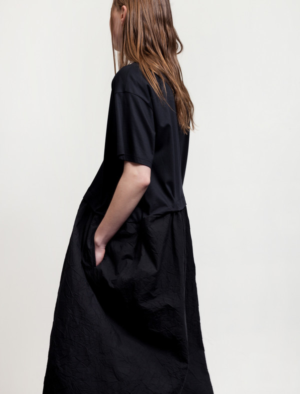 Ys by Yohji Yamamoto Tuck Detail Dress Navy