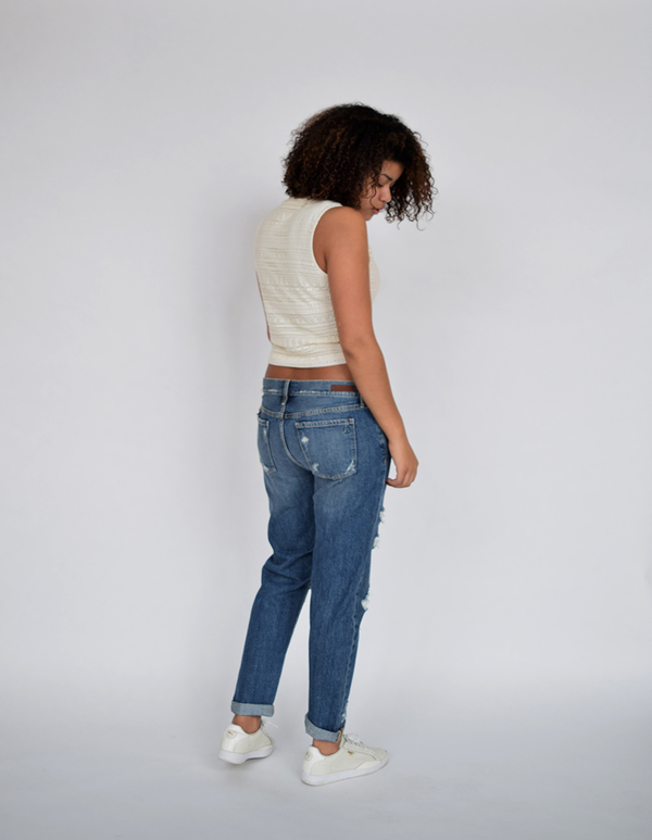 Articles of Society Janis Destructed Boyfriend Jeans