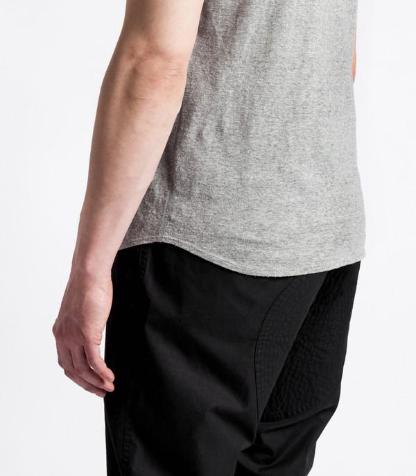 Men's Wings + Horns Knit Silk Jersey S/S Grey