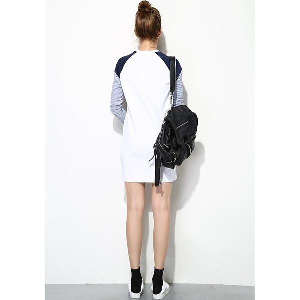 FEW MODA Fall Geometric Prints Dress
