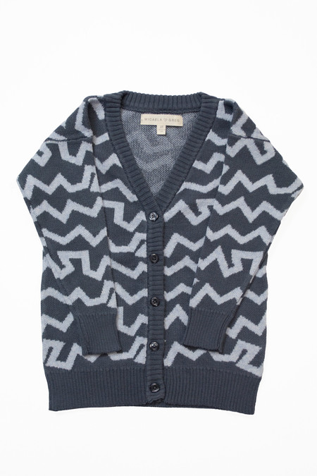 Kids' Micaela Greg Grey Wiggle Cardigan