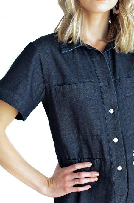 Ilana Kohn Tia Short Sleeve Coverall - Denim