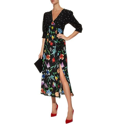 Rixo London polka dots and tulips maxi dress - MULTI