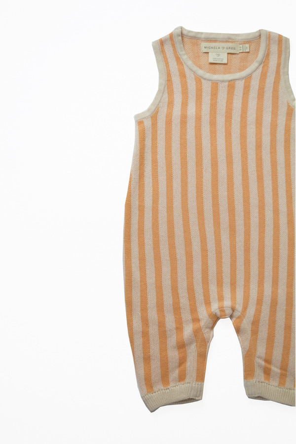 Kids' Micaela Greg Peach Ribbon Onesie