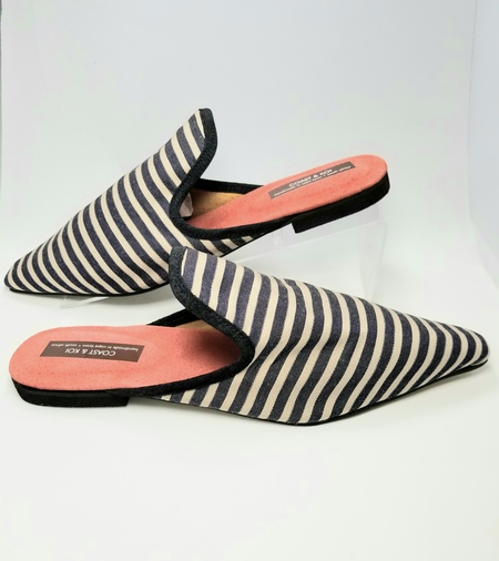 COAST & KOI NAVY STRIPED MULES
