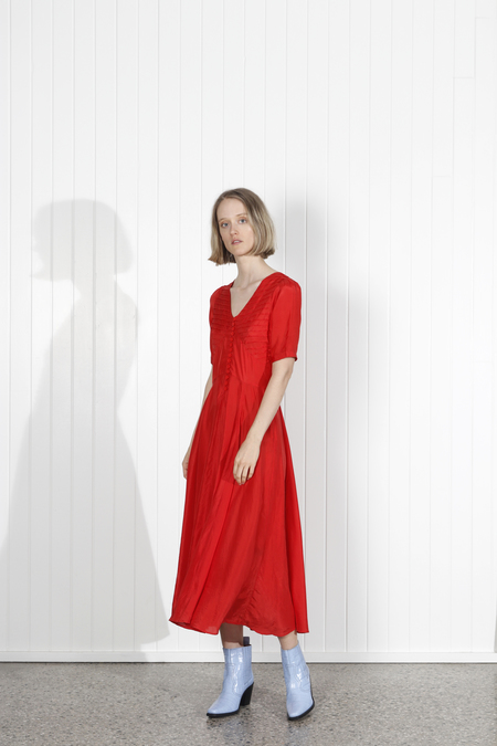 No.6 Paola Circle Dress - RED