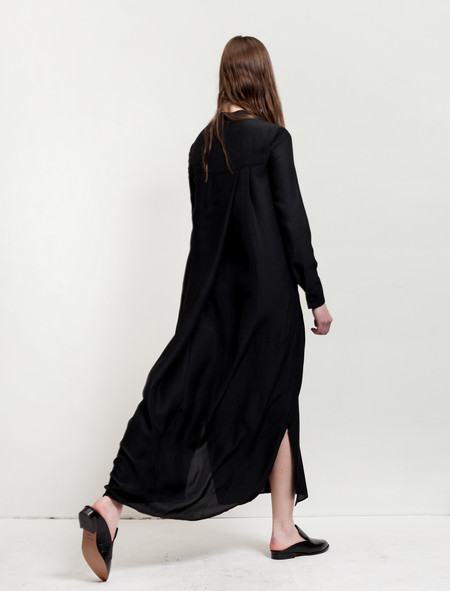 Catherine Quin Neutra Dress - Black Jacquard