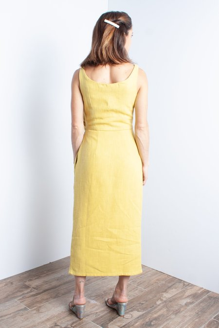 Samantha Pleet Tulip Dress - Sunflower