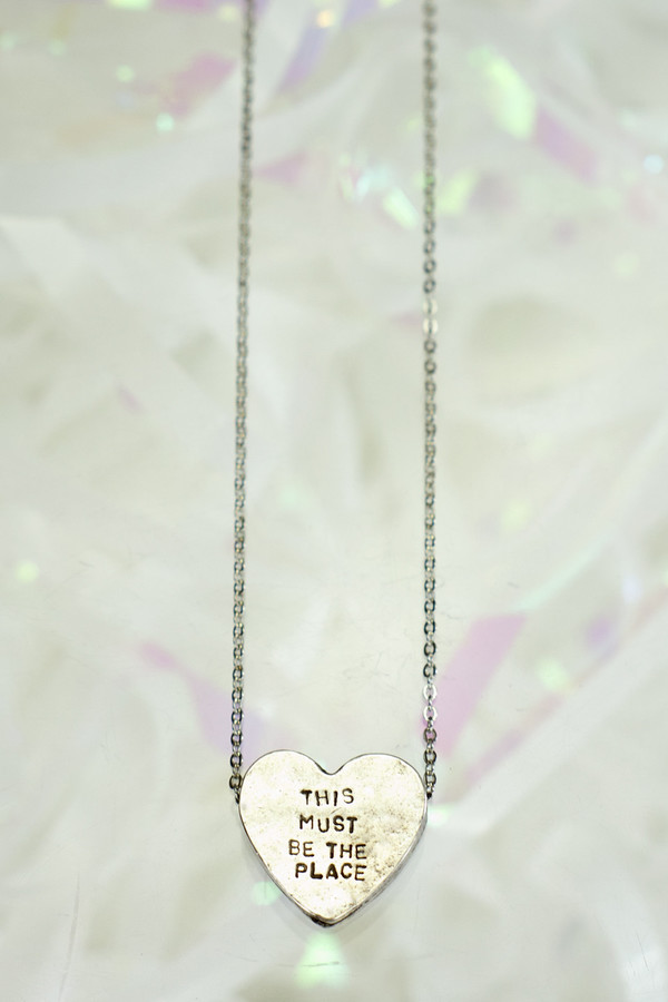 """ERICA WEINER Heartbeats Necklace """"This Must Be The Place"""""""