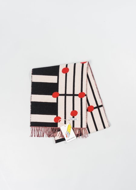 HENRIK VIBSKOV NOTE BAND SCARF - BLACK/RED