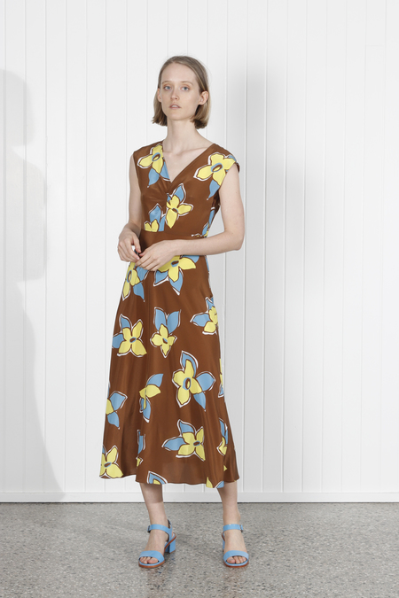 No.6 Teddi Dress - Tobacco Stargazer