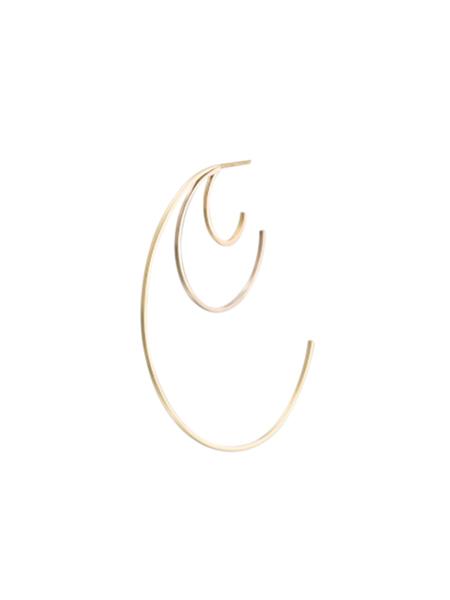 LILIAN V TRAPP TRIPLE BOWS EARRINGS - 14k Gold